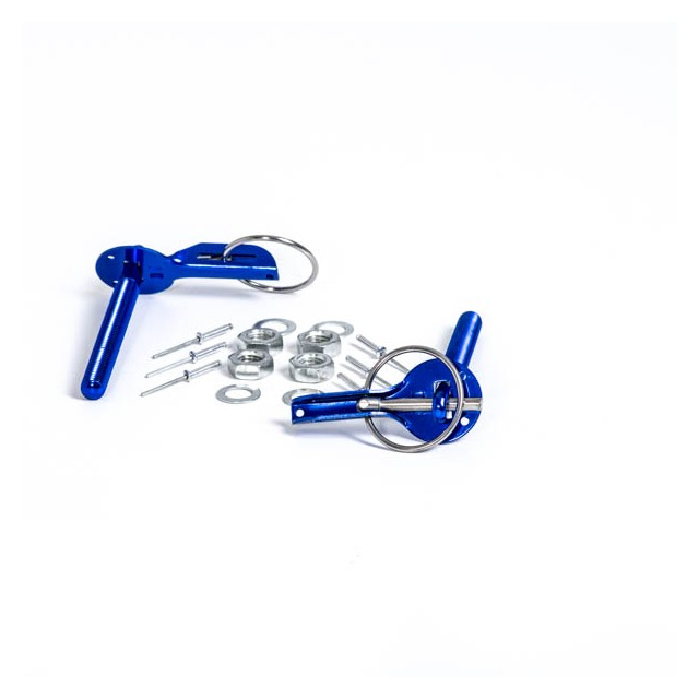 BLUE ALUMINUM BONNET PIN KIT