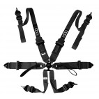 "6 PTS 3""/2"" QSR HARNESS HANS BLACK"