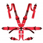 "6 PTS 3""/2"" QSR HARNESS HANS RED"