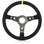 S2000 350MM -65MM DISH - BLACK SUEDE/YELLOW STRIPE&STITCHES